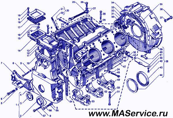 двигателя МАЗ седельный